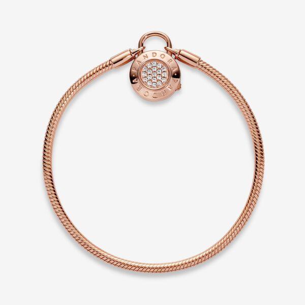 Pandora Moments Pavé Padlock Clasp Snake Chain Bracelet | Snake ...