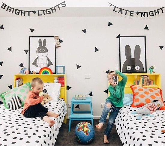 Shared room, dots, patterns and neon | #vikingtoys
