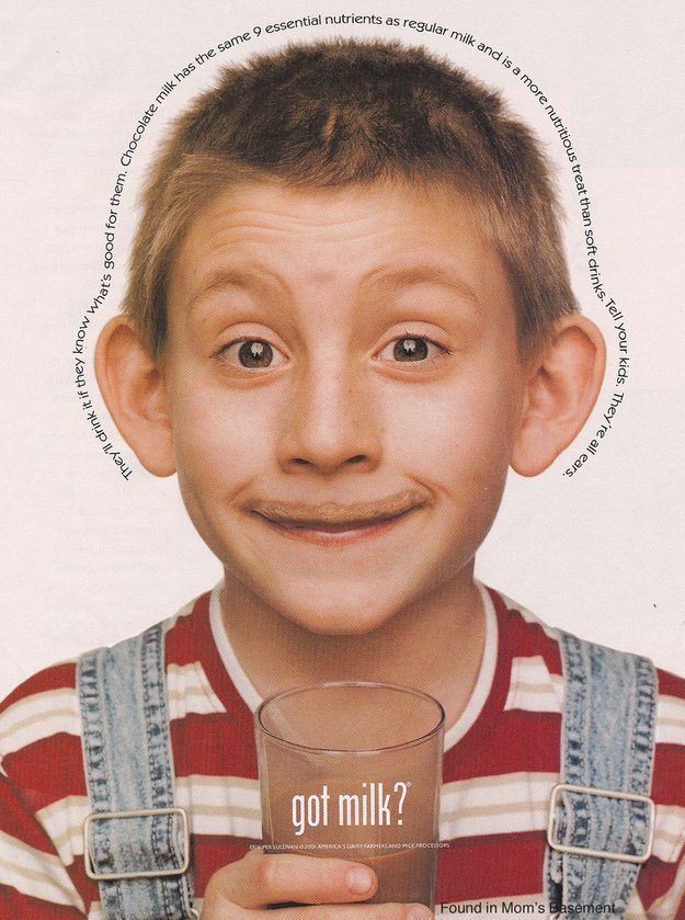 "Of course Malcolm in the Middle 's Dewey would drink chocolate milk. 23 ""Got Milk?"" Ads That Will Take You Back To The Early '00s."