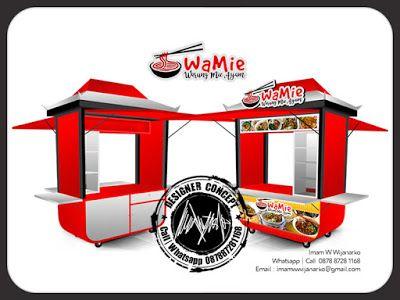 Desain dan Produksi Gerobak: Desain Gerobak Mia Ayam Wamie