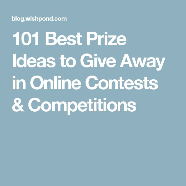 101 Best Prize Ideas to Give Away in Online Contests & Competitions