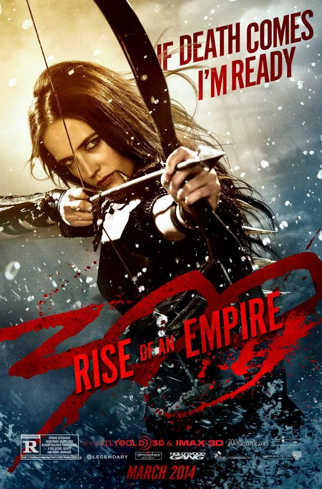 Eva Green as Artemisia in 300: Rise of an Empire. Best thing in the movie which was otherwise bad.