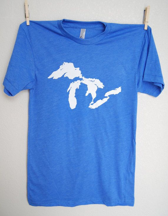 The Great Lakes T-Shirt, by bigwaterapparel