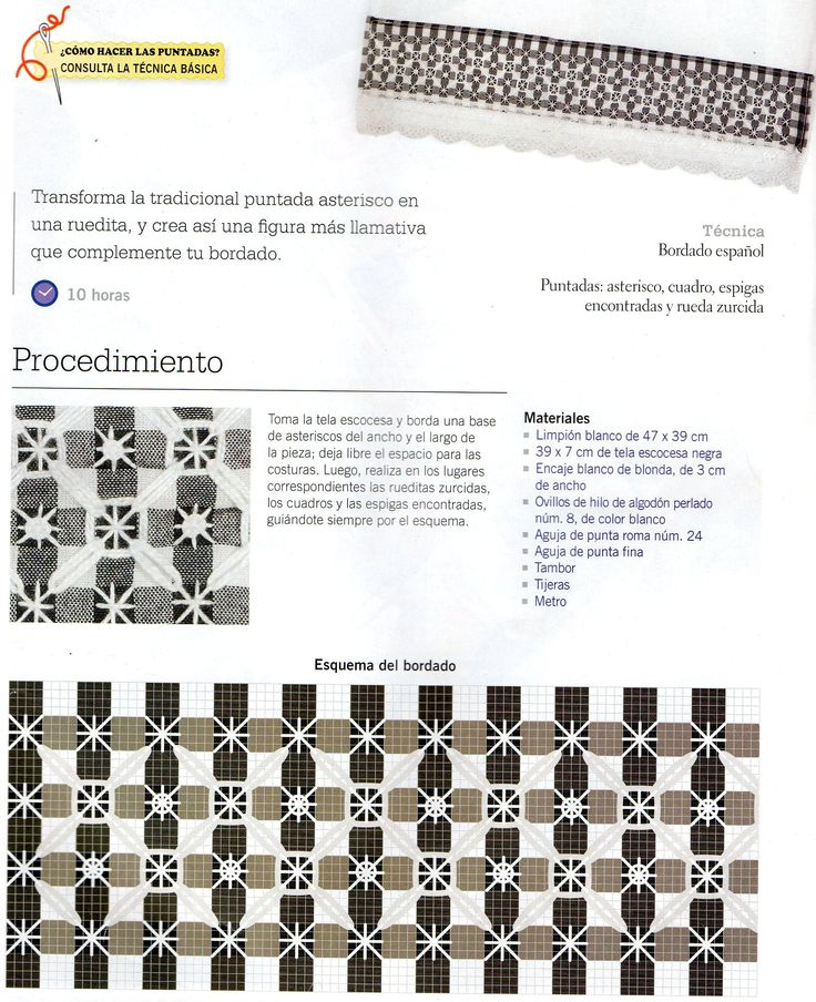 1081 Best Gingham Or Chicken Scratch Embroidery Images On Pinterest