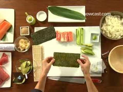 How To Make an Inside Out California Roll..I prefer it with tuna instead of crab