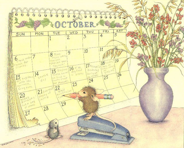 Image result for mouse house october images