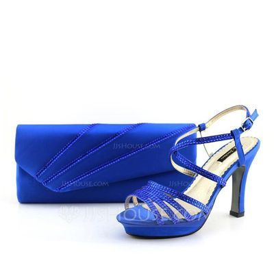 Shining Satin Shoes & Matching Bags (012070163)