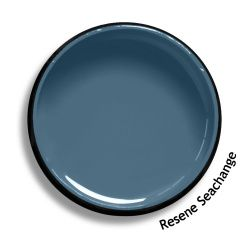 Resene Seachange is a soft Scandinavian blue, with a demure touch of slate grey in it. Try Resene Seachange with complex neutrals, swamp browns or blackened whites, such as Resene Half Tea, Resene Half Lignite or Resene Alabaster. From the Resene The Range fashion colours 18. Latest trends available from www.resene.com/range18. Try a Resene testpot or view a physical sample at your Resene ColorShop or Reseller before making your final colour choice.