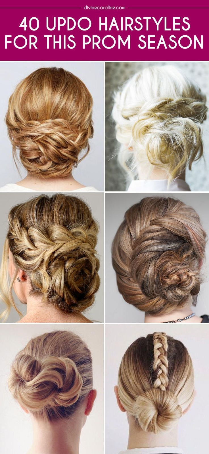 Here are 40 updo hairstyles for prom and the tutorials that will help you create them.