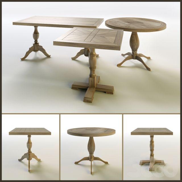 Набор деревянных столов