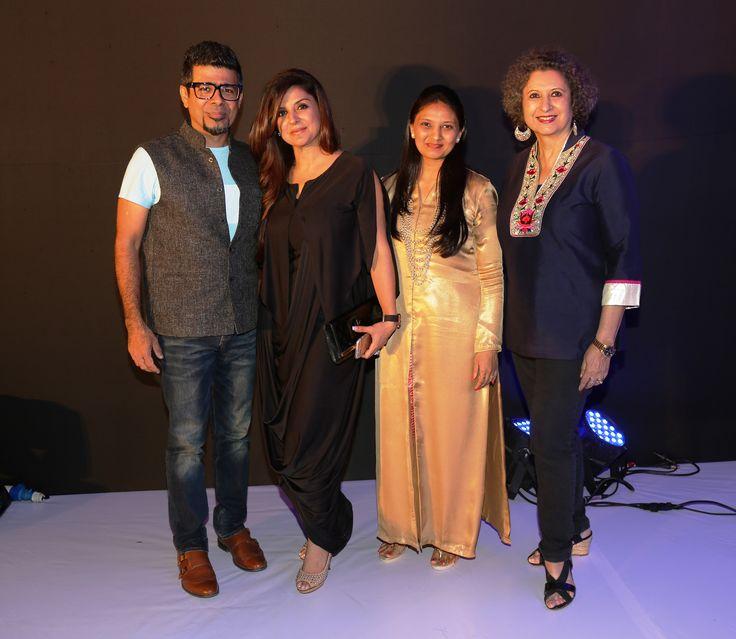 Arzan Khambatta, Babita Malkani, Shraddha Vora and Meher Castelino at SNDT-AMD's Chrysalis fashion show
