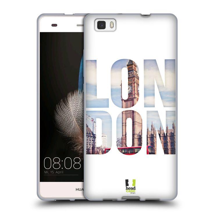 HEAD CASE silikonový obal na mobil HUAWEI P8 LITE vzor Města foto a nadpis ANGLIE, LONDÝN, BIG BEN