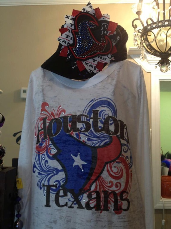 ... Texans Burnout with Bling Shirt ... 388e5d601