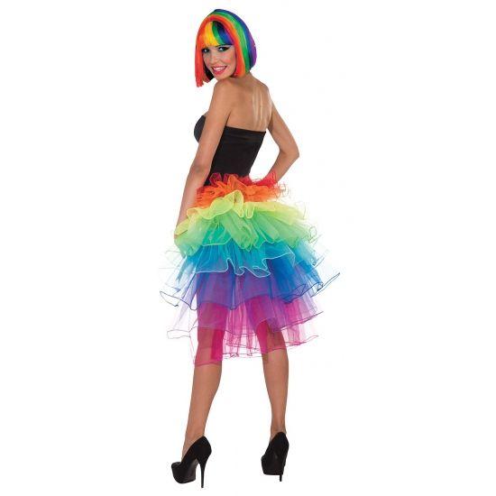 Petticoats bij warenhuis Trendmax, Verkleedkleding regenboog petticoat,colored,colors,gekleurd,gekleurde,kleuren,kleurrijk,rainbow,rainbows,regenbogen