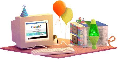 Google célèbre aujourd'hui son 17e anniversaire #GoogleDoodle