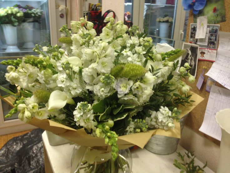 summer bouquet with delphiniums