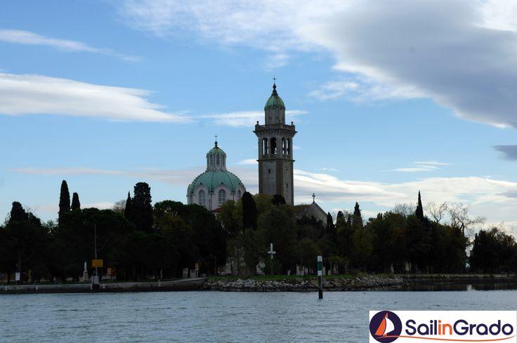 La Basilica di Barbana, nel cuore della Laguna di Grado...