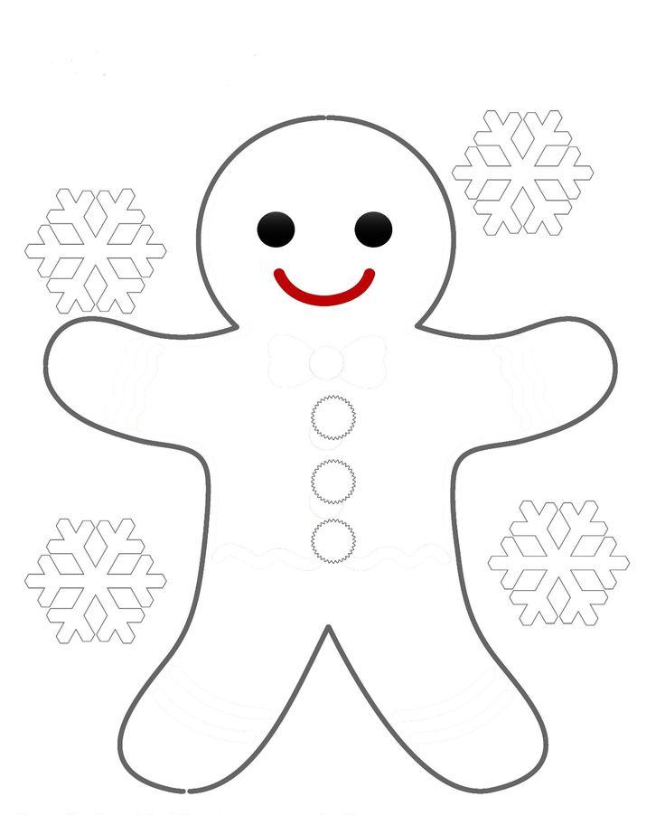 Die Besten 17 Ideen Zu Gingerbread Man Coloring Page Auf