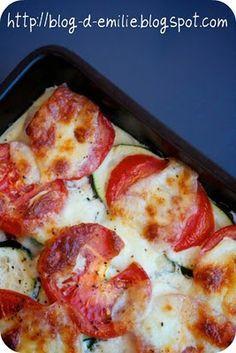Gratin de légumes à la mozzarella  En manque de tomates et de fromage... China sucks!