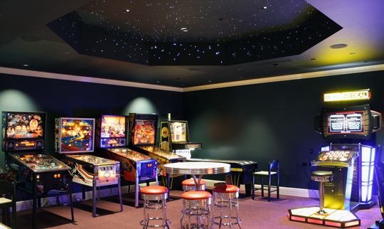 Arcade Room With Light Up Ceiling Game Room Pinterest