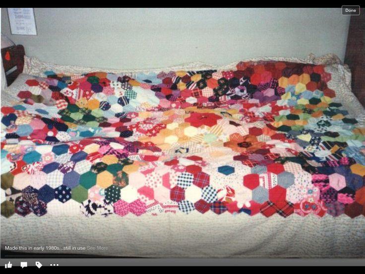 Hexagonal patterned bedspread