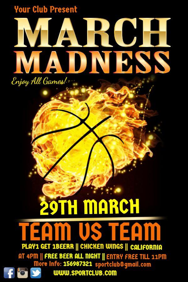 basketball psd flyer template by industrykidz dribbble