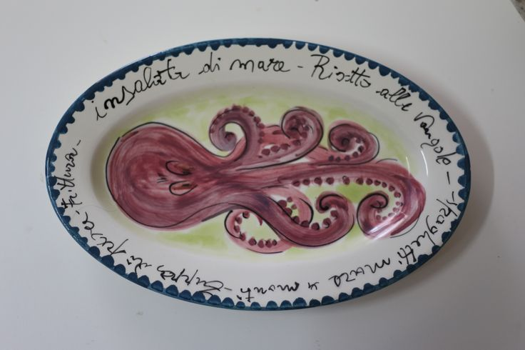 piatto ovale - polipo