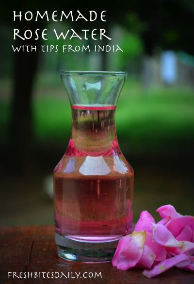 Make your own rose water with these tips from India (I know you've wondered how…)