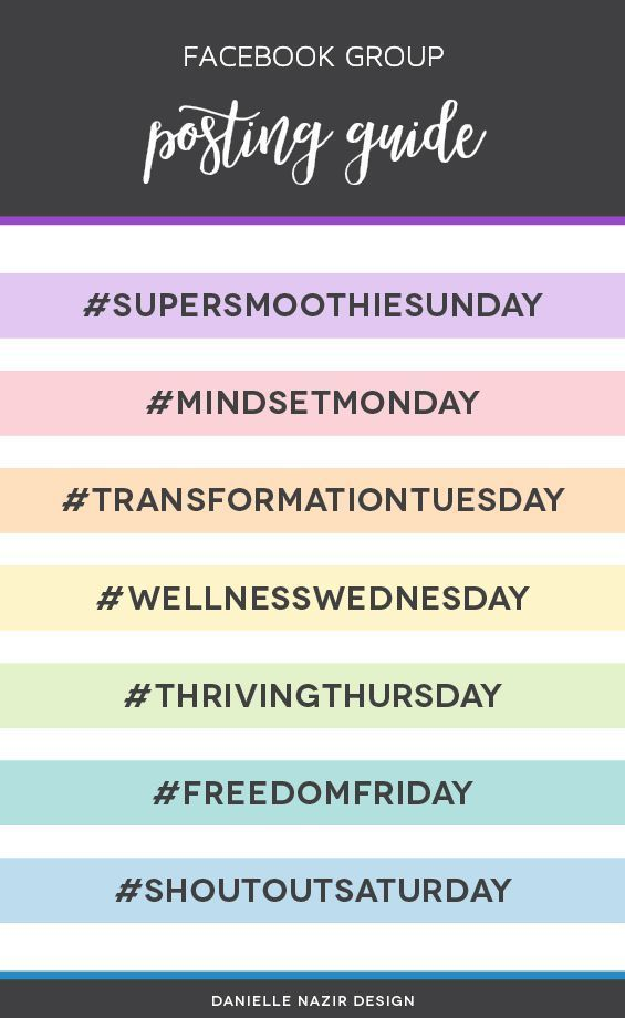 Health Fitness Coach Facebook Or Social Media Hashtag Posting Guide Engage With Social Media Challenges Social Media Posting Schedule Health Coach Business