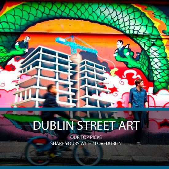 Dublin Street Art #LoveDublin #Art #Street #Urban #Colour #Wave #Bike #Dragon #Album #Photo