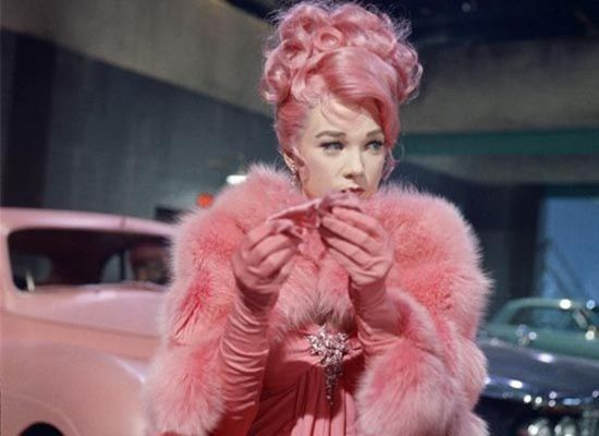 "pink, pink, pink.   Movie she was in about all her husband's dying on her.  This is when she is married to ""Pinky."""