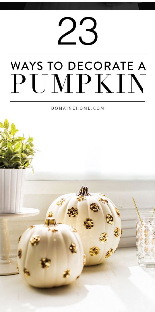23 Totally Chic Ways To Decorate Your Pumpkins Christmas