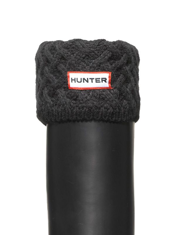 Weave Welly Socks | Hunter Boots (Black)