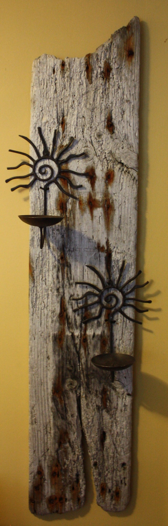 Wooden candle holders crafts - A Hand Made Drift Wood Candle Holder