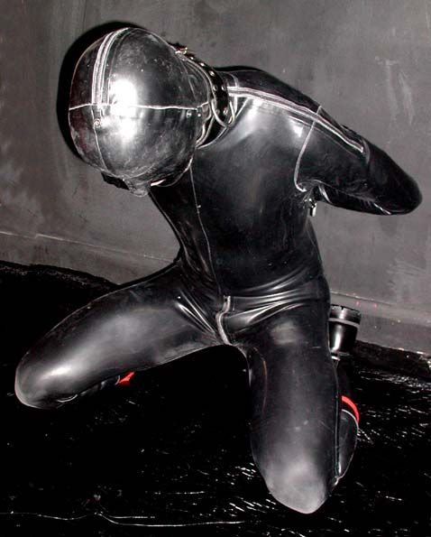 Latex Catsuit Hood Bondage  Black  Pinterest  Posts -2730
