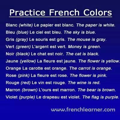 Practice French Colors