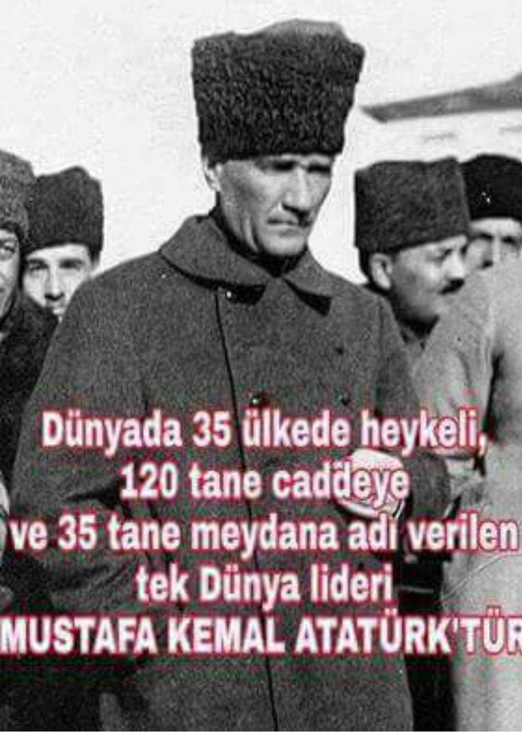 Tüm zamanların lideri : Mustafa Kemal Atatürk