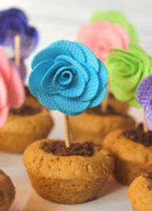 Mothers day ideas, spring ideas, flower-pot-cookies, eggless