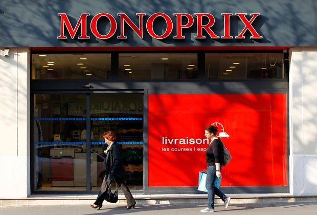 Love this. a grocery store with clothes Monoprix