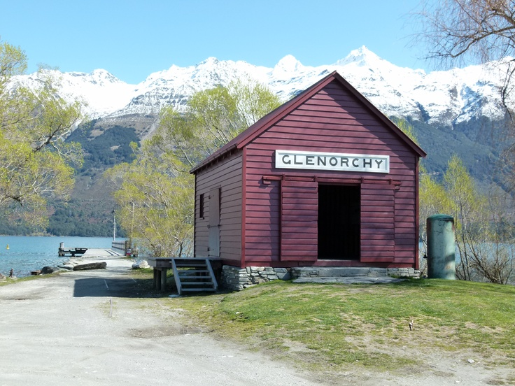 Iconic Glenorchy red shed at the wharf.