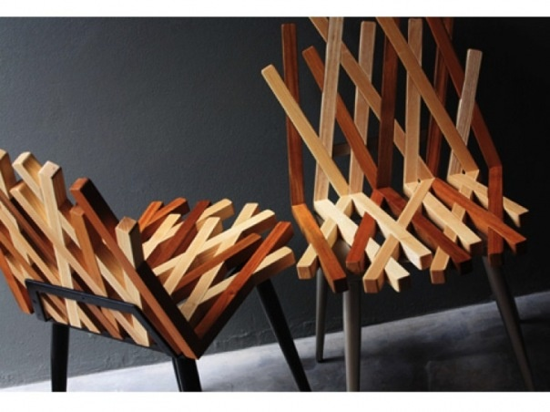 Contrasting Wooden Chairs