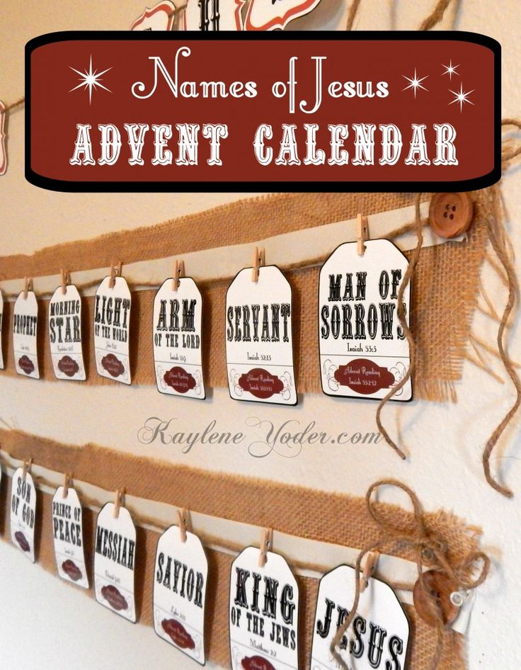 Find the beautiful Names of Jesus Advent Calendar in this awesome Christmas pack!