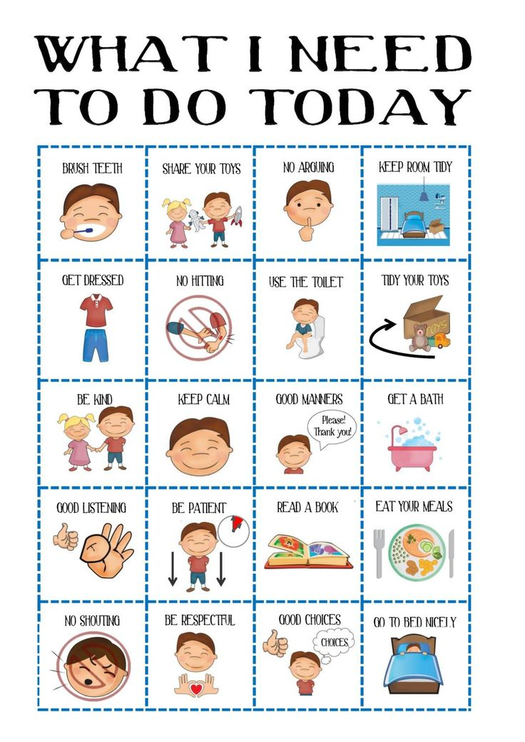 Boys Behaviour chart, Kid's Daily Planner, toddler routine chart, visual aid, ASD, with pictures, INSTANT DOWNLOAD, Printable, Pre-school
