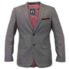 Mens Blazer Marc Darcy Coat Formal Check Jacket Suede Patch Smart Designer Lined