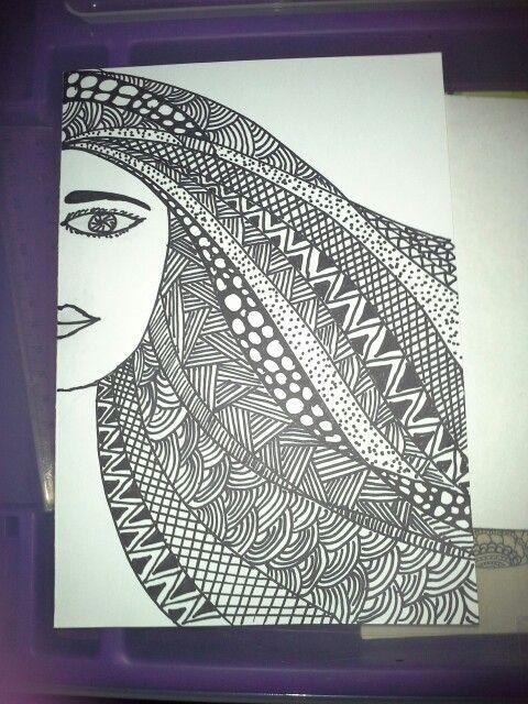 Lady zentangle