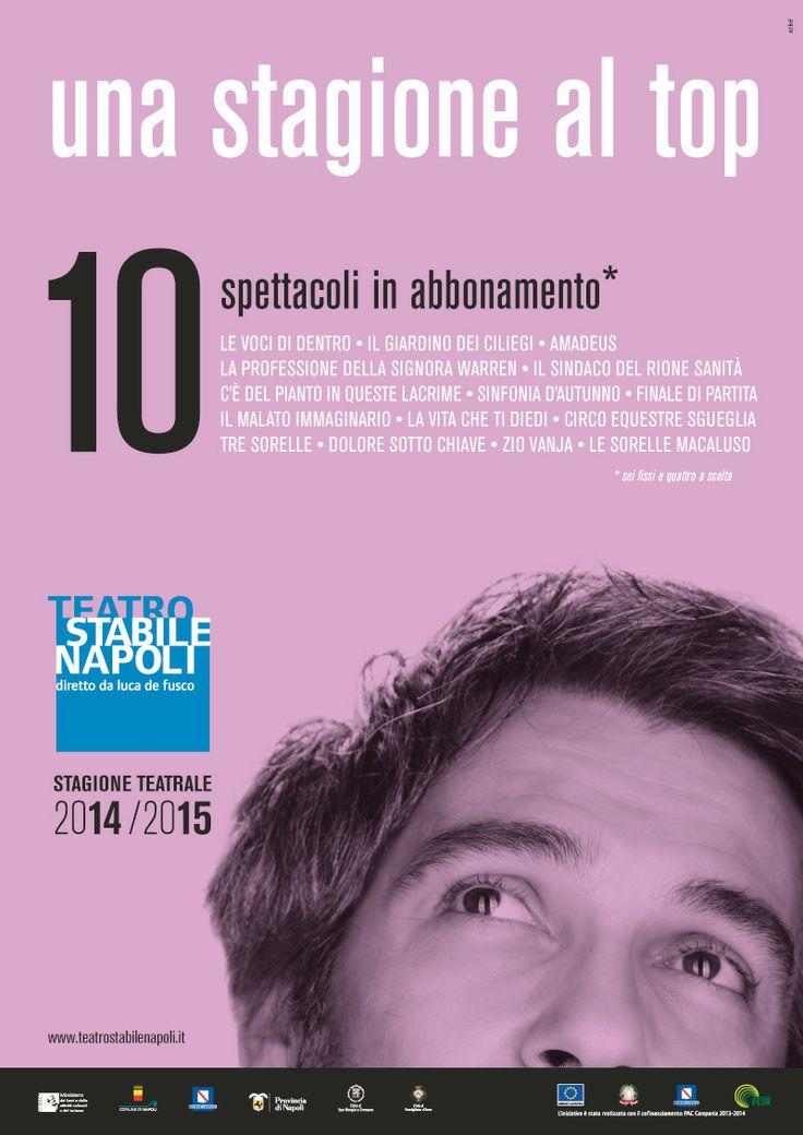 """Campagna di #comunicazione """" una #stagione al top"""" #Mercadante - #Teatro Stabile di #Napoli  #recitazione #teatro #operamorale #shakespeare #campania #italia"""
