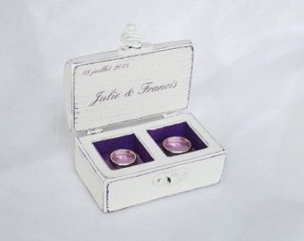 Caja del anillo del anillo de madera caja del por GregolinoWedding