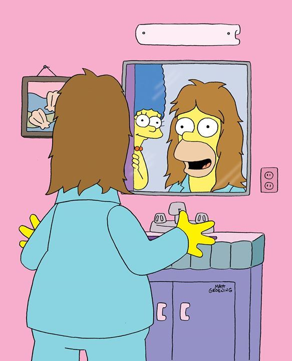 Cool hair on Homer! #pic