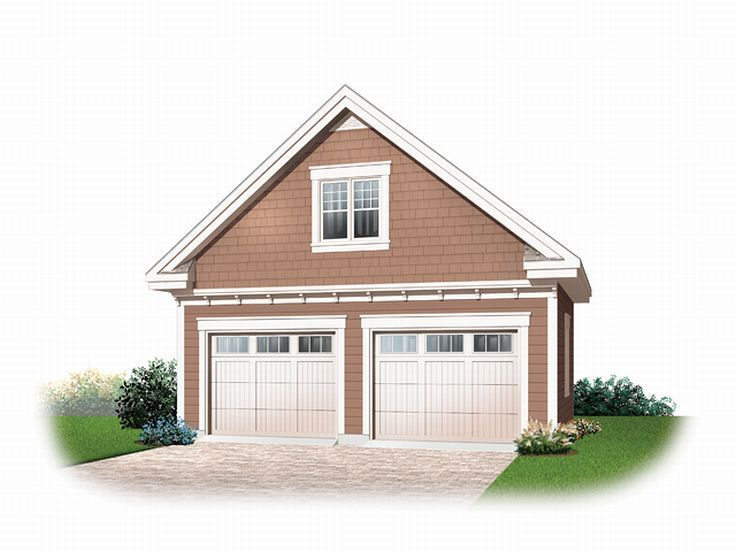 2-Car Garage Loft Plan, 028G-0018