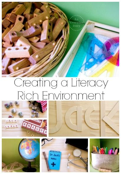 Creating a Literacy Rich Environment: Learning to read and write through play and exploration {from An Everyday Story}